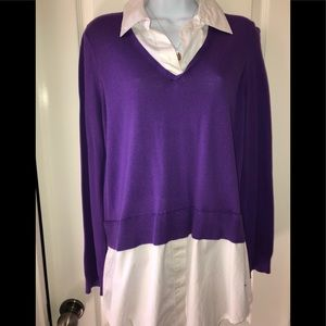 Purple and white top - Ralph Lauren